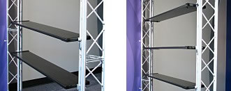 Add-On Shelving Kits for Truss Displays