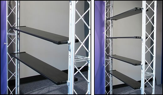 Two Truss Add-On Shelves with Mounting Brackets