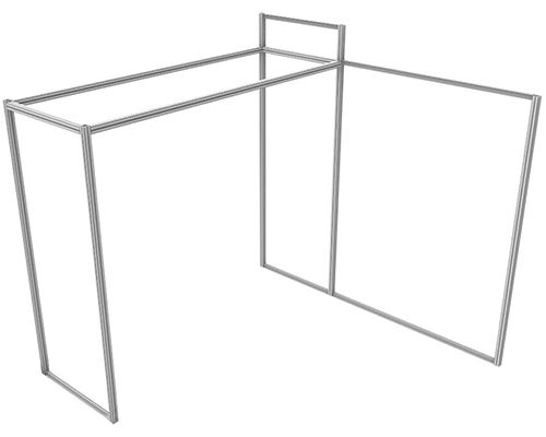 "Aluminum Extrusion Frame for Alpine™ ""A"" Booth"