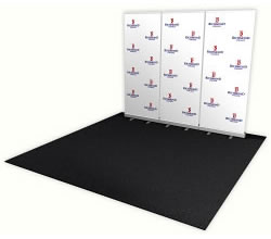 Great Buy™ Step and Repeat Fabric Banner Stand 3 Pack with SmartPac Case from BeautifulDisplays.com