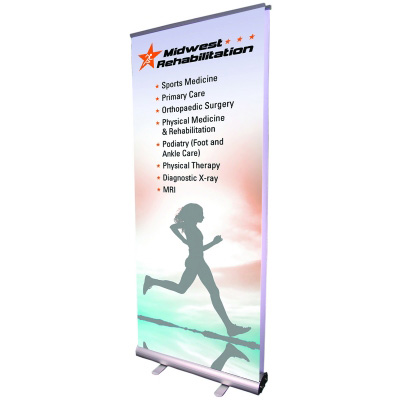 Double Sided Budget Banner Stand with Dye-Sublimated Fabric Graphic