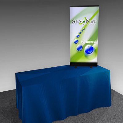 Tabletop Banner Stand with Dye-Sublimated Fabric Graphic