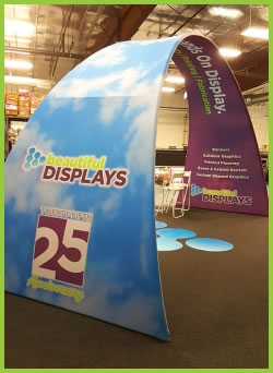 Fabric Graphic Arch from Beautiful Displays