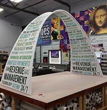 Small Fabric Arch with 2-sided Printing