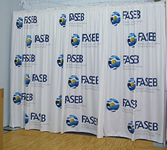 10' Custom Printed Curtain Backdrop