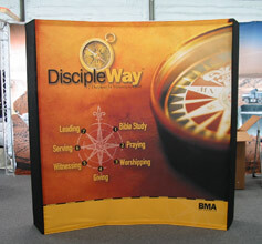 8' Curved Fabric Popup with Endcaps