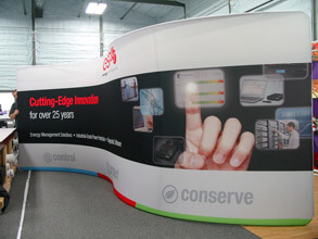 20' S-Curve Snap-Tube Fabric Display