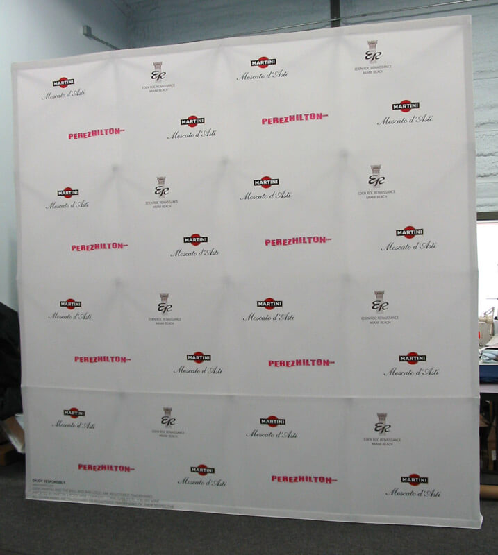 Step and Repeat Dye-Sub Fabric Displays and Media Backdrops