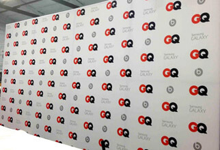 Custom 20' wide x 10' high Fabric Step and Repeat