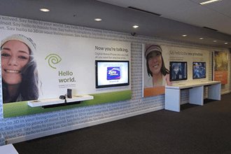 Wall murals integrate promotions for maximum impact