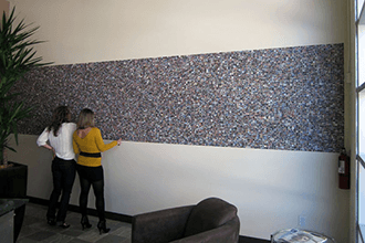 Flank Marketing partial wall mural collage