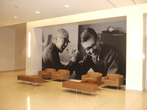 Spotlight VIPs in your company on your lobby walls