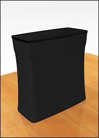 Case with Black Fabric Counter Kit for Fabric Factory™ Snap-Tube Display