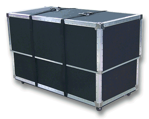 Heavy Duty Wheeled Shipping Case for 20' x 20' Carpet Package