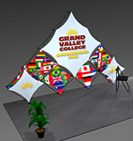 Xpressions SNAP™ Fabric Pop-Up Display Kits from BeautifulDisplays