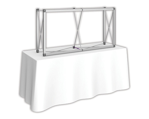 5 ft. x 2.5 ft. Embrace™ Tabletop Push-Fit Tension Fabric Display - Frame Detail