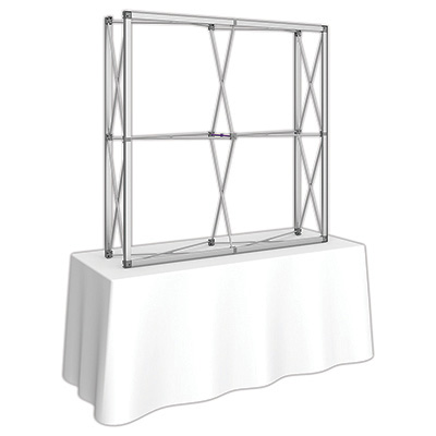 5ft. x 5ft. Embrace™ Tabletop Push-Fit Tension Fabric Display - Frame Detail
