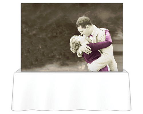7.5 ft. x 5 ft. Embrace™ Tabletop Push-Fit Tension Fabric Display - Front View