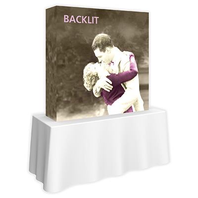 5 ft. x 5 ft. Embrace™ Single-Sided Backlit Push-Fit Fabric Display - Side View