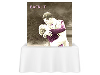 5ft. x 5ft. Backlit Embrace™ Single-Sided Tabletop Push-Fit Fabric Display