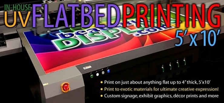 Display-Quality Large Format UV Flatbed Printing from BeautifulDisplays