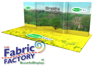 Full Color Dye-Sub Trade Show Flooring Systems from BeautifulDisplays' Fabric FACTORY™