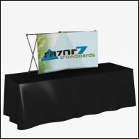 Great Buy 6' Curved Short (2x1 quad) Dye-Sub Fabric Tabletop Popup Exhibit