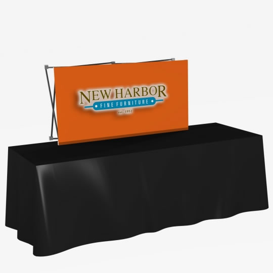 Great Buy 6' Straight Short (2x1 quad) Dye-Sub Fabric Tabletop Popup Exhibit