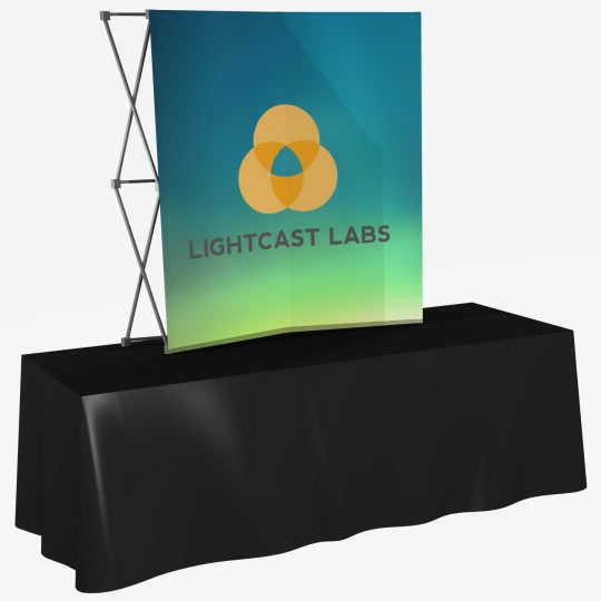 Great Buy 6' Curved (2x2 quad) Dye-Sub Fabric Tabletop Popup Exhibit