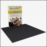 Great Buy 6' Straight (2x3 quad) Dye-Sub Fabric Popup Exhibit with End Panels