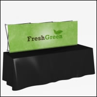 Great Buy 8' Straight Short (3x1 quad) Dye-Sub Fabric Tabletop Popup Exhibit