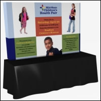 Great Buy 8' Straight (3x2 quad) Dye-Sub Fabric Tabletop Exhibit w/End Panels