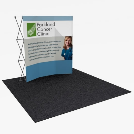 Great Buy™ 8' Curved Display (3x3 quad) Dye-Sub Fabric Popup Display