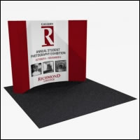 Great Buy 10' Curved (4x3 quad) Dye-Sub Fabric Popup Exhibit with End Panels
