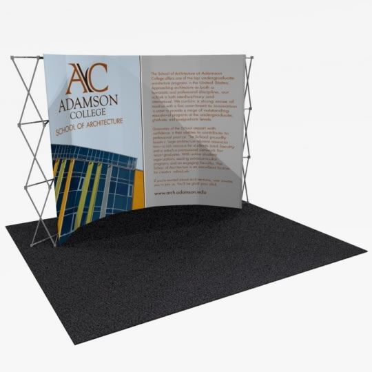 Great Buy™ 12' Curved Display (5x3 quad) Dye-Sub Fabric Popup Display