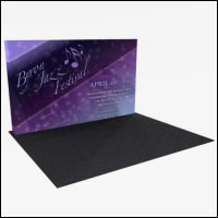 Great Buy 12' Straight (5x3 quad) Dye-Sub Fabric Popup Exhibit with End Panels