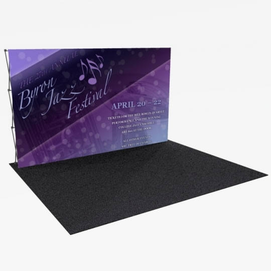 Great Buy 12' Straight (5x3 quad) Dye-Sub Fabric Popup Exhibit