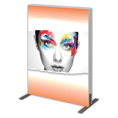 Groovy Wall™ Double-Sided Rectangular Light Box R-01 Side View