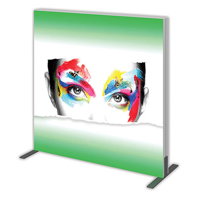 Groovy Wall™ Double-Sided Square Light Box S-02 Side View
