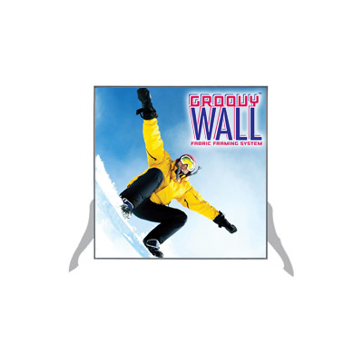 2' x 2' Groovy Wall™ Free-Standing Double-Sided Fabric Frame System