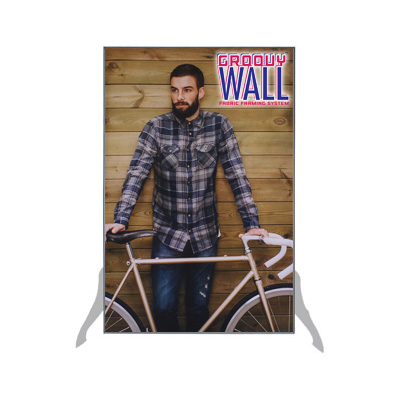 2' x 3' Groovy Wall™ Free-Standing Double-Sided Fabric Frame System
