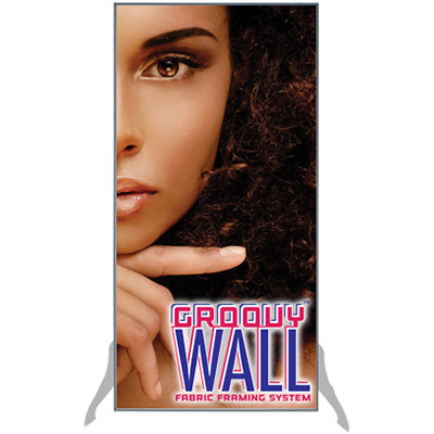 2' x 4' Groovy Wall™ Perfect Edge Free-Standing Fabric Frame System