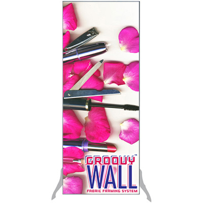 2' x 5' Groovy Wall™ Free-Standing Double-Sided Fabric Frame System