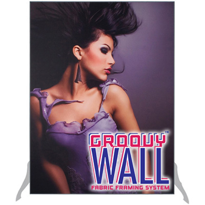 3' x 4' Groovy Wall™ Perfect Edge Free-Standing Fabric Frame System
