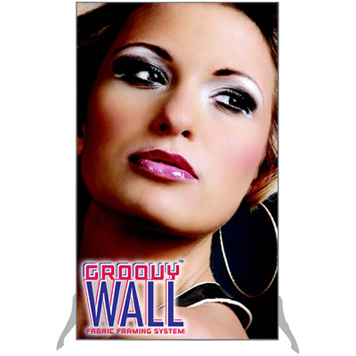 3' x 5' Groovy Wall™ Free-Standing Double-Sided Fabric Frame System