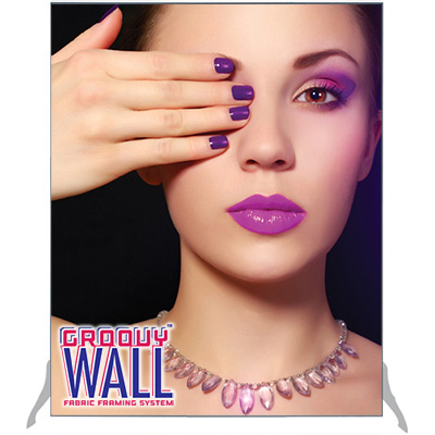 4' x 5' Groovy Wall™ Free-Standing Double-Sided Fabric Frame System