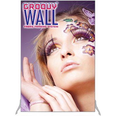 4' x 6' Groovy Wall™ Perfect Edge Free-Standing Fabric Frame System