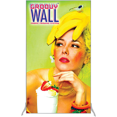 4' x 7' Groovy Wall™ Free-Standing Double-Sided Fabric Frame System