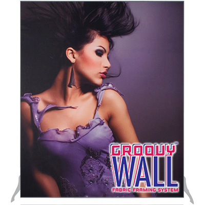 5' x 6' Groovy Wall™ Perfect Edge Free-Standing Fabric Frame System