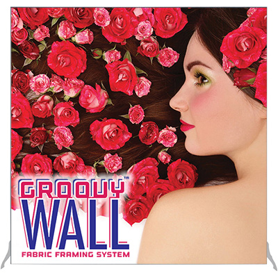 7.5' x 7.5' Groovy Wall™ Free-Standing Fabric Frame System